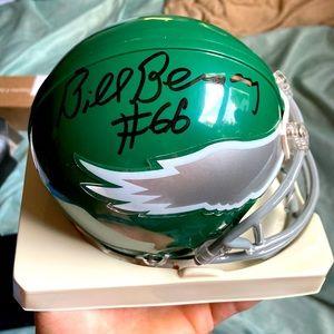 Bill Bergey Philadelphia Eagles Signed mini helmet